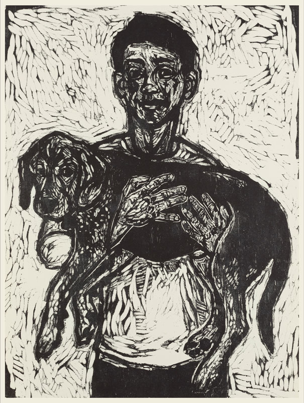 Woodcut 32 x 24 inches