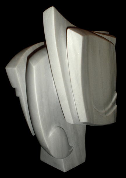 White Colorado marble 15 inches tall