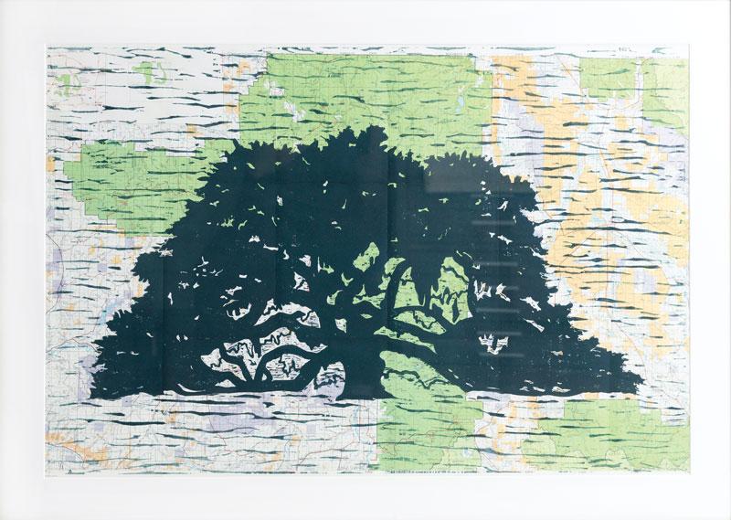 Wood block print 30 x 42 inches